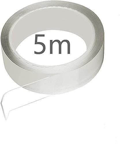 【京都ハッピー】補修テープ 台所コーナーテープ 強粘着テープ 耐熱テープ 防油テープ 防汚テープ 防カビテープ 防水テープ キッチン テープ バスルームテープ 浴槽まわり ベランダ テープ 洗面台用テープ 透明なテープ (5m*50mm*0.5mm)