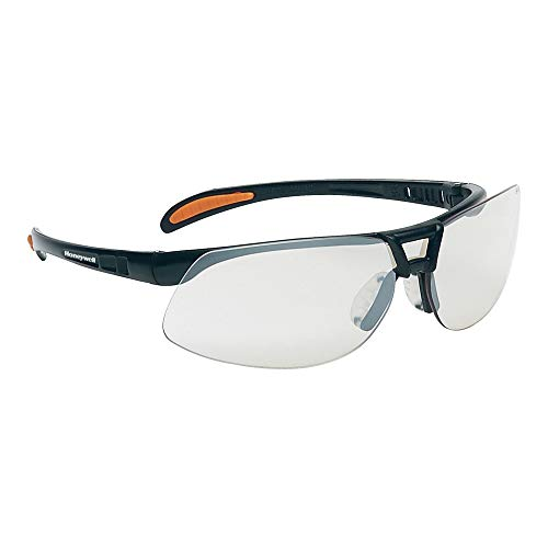 Honeywell 1015689 Protege Floating Lens Eyewear Metallic Black Frame with Silver Indoor/Outdoor Lens