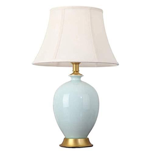 YWSZJ Lámpara de Mesa Moderna de Sombra for el Dormitorio de la Sala de la Familia de Noche Blanco lechoso Pantalla Lámpara de Mesa