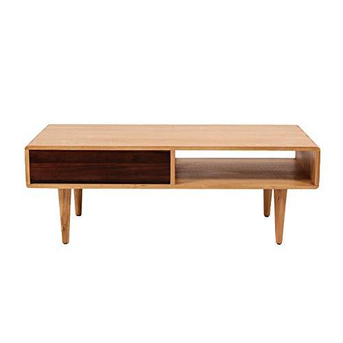 Mesa de té Nórdico de madera maciza Mesa Pequeña mesa de centro moderna minimalista Sala Multifuncional de almacenamiento de tabla de té simple mesa de centro Sala de estar Muebles para el Hogar Ofici