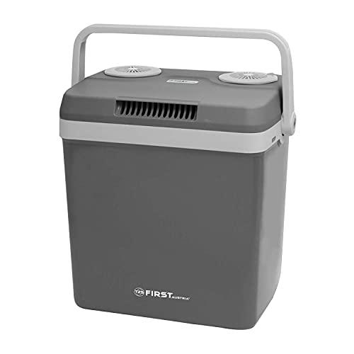 TZS First Austria Kühlbox 32 Liter, WÄRMT und KÜHLT, Thermo-Elektrische Kühlbox 12 Volt und 230 Volt, Mini-Kühlschrank | für Auto und Camping | EEK A++