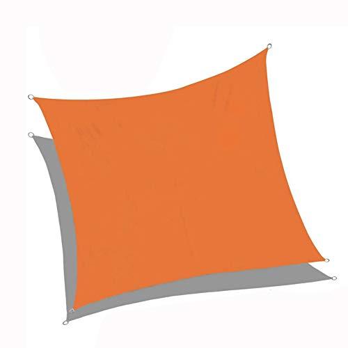 XZPQ Dreieckige Markisen, Dachterrasse Mit Außenterrasse Und Balkon, Wärmeisolierung Für Den Haushalt Und Regensicheres Sonnenschutztuch,Orange,5x5x7.1m