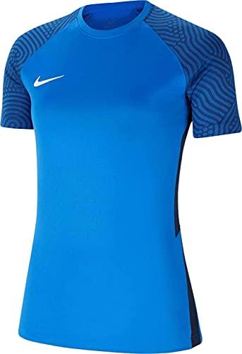 NIKE Camiseta para Mujer Strike II Jersey S/S, Mujer, CW3553-463, Negro/Azul Marino/Blanco, Medium