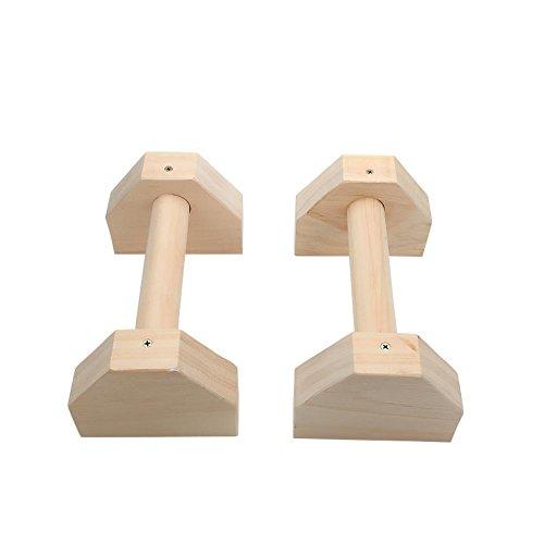 Earlyad Push-Up-Ständer Griffe Push-Up-Stäbe aus Holz im russischen russischen Stil Push-Up-Stretch-Training Calisthenics Handstand personalisierte Stäbe für Männer, Frauen, Training, Muskeln