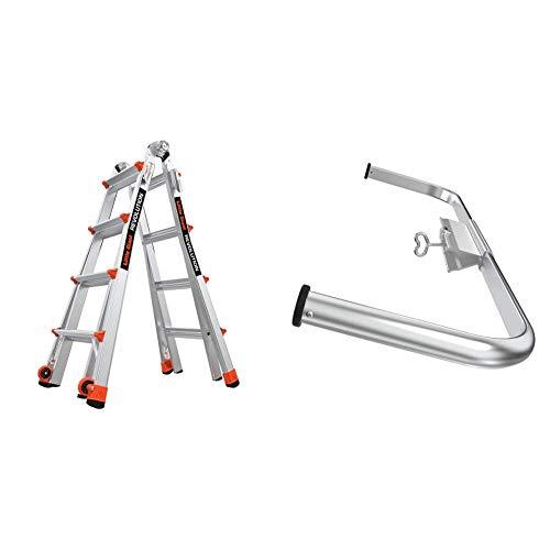 Little Giant Ladders, Revolution, M17, 17 ft, Multi-Position Ladder, Aluminum + 10111 Wing Span/Wall Standoff