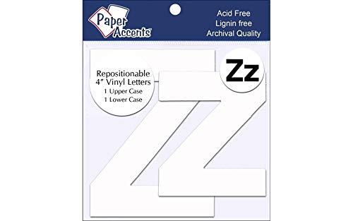 Vinyl Letters Removable Adh 4' Zz 2pc White