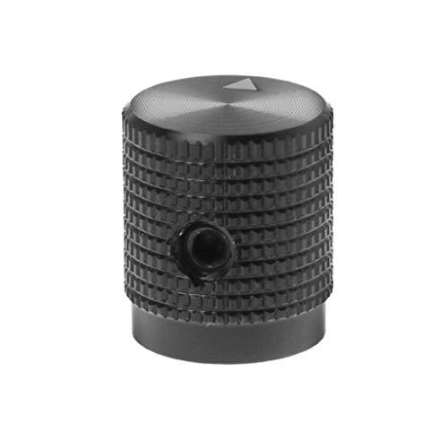 smallJUN 14X16Mm Potentiometer Knopf Kappe Lautstärkeregler Aluminium Encoder Multimedia Lautsprecher Ersatzteile für HiFi Audio Verstärker Musikinstrumente Ananas Knopf Schwarz