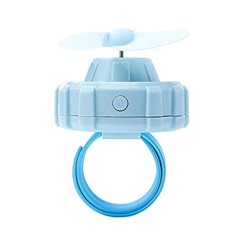 Ventilador de muñeca Mini ventilador de reloj con carga USB, ventilador portátil de mano silencioso para estudiantes y niños de verano, conveniente ventilador recargable para niños