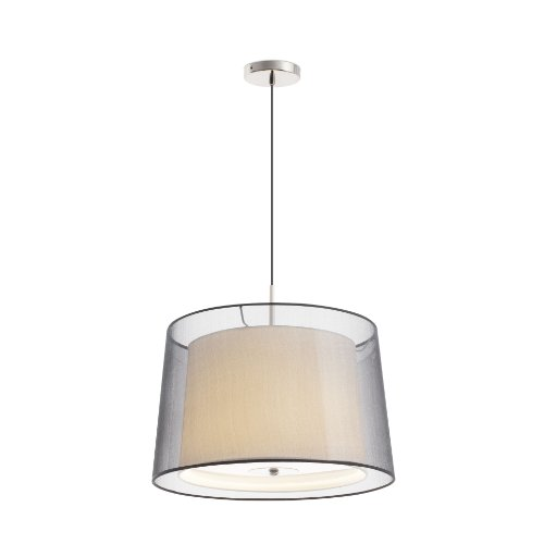 FARO BARCELONA 68549 SABA Lampe Suspension Nickel Mat 3L
