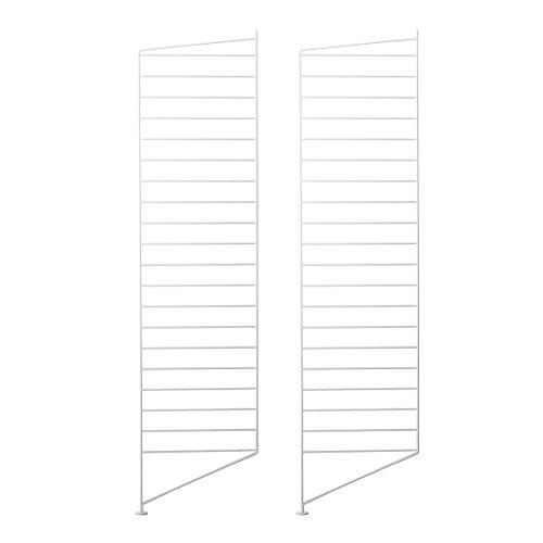 String System Bodenleiter 115x30cm, weiß lackiert 115x30cm 2er Set