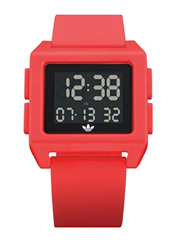 adidas Originals Watches Archive_SP1 Silicone Strap w/Polycarbonate Buckle, 24mm Width (24mm) - Solar Red
