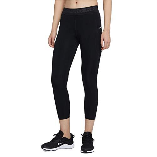 Nike W NP Tight 7/8 Femme NVLTY PP2 Leggings, Black/(White)