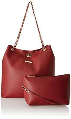 Flavia Women's Handbag (Maroon)