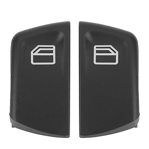 2pcs ABDOMINALES Interruptor de encendido del interruptor de la consola de la consola de la ventana del automóvil anti-óxido Ajuste para Mercedes W639 Sprinter II 906 negro
