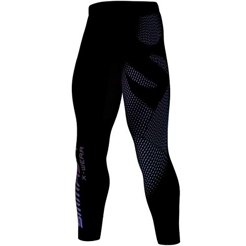 SMMASH Gleam Herren Sport Leggings Lange, Thermo Laufhose, Atmungsaktiv und Leicht Fitness Strumpfhosen, Sporthose Crossfit, Gym, Jogginghose, Thermohose, Hergestellt in der EU (L)