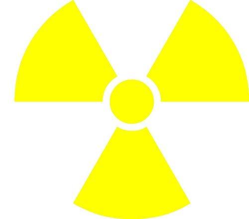 NetSpares 119404455 1 x Aufkleber Atom Nuklear Kraftwerk Biohazard Sticker Fun Gag Kleber Tuning Bus