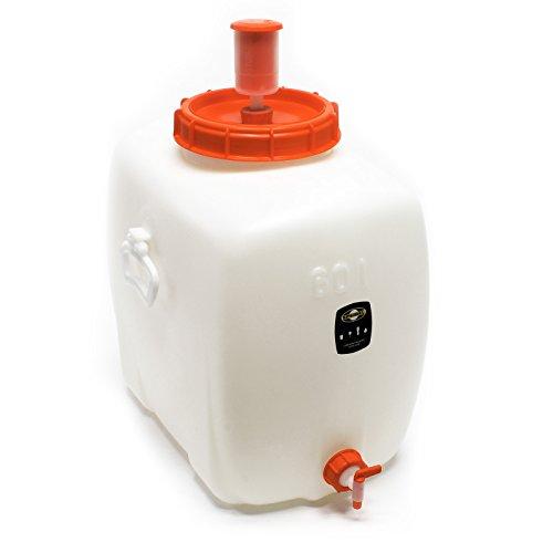 Speidel Getränkefass Mostfass oval ca 60 L PE-Kunststoff lebensmittelecht Ablasshahn und Zubehör