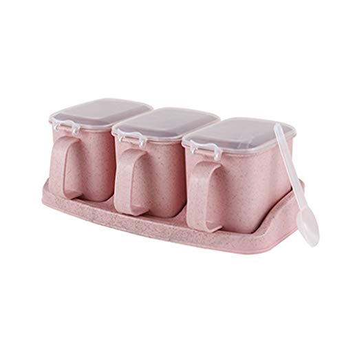 Plastic Spice Containers - Spice Jar Set Van 3 Mini Spice Jars Om Kruiden, Kruiden, Marinade, Suiker, Zout, Peper In Te Bewaren - Tarwestro