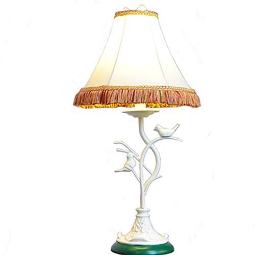 XQDSP Lampe de Table à LED Protection de l'environnement Résine Fer forgé Support Fil Gland Bird Lampe de Table Salon Chambre Etude Veilleuse,A