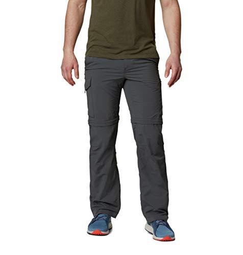 Columbia Homme Pantalon de Randonnée 2 en 1, SILVER RIDGE CONVERTIBLE PANTS, Nylon, Gris (Grill), Taille: 48, AS8004