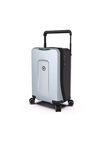 PLEVO THE RUNNER Silver- The Worlds Most Innovative Smart Luggage