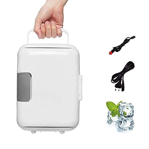 UIGJIOG Mini refrigerador de Coches 4L, Bebidas de Alimentos Doble Uso del refrigerador del refrigerador Frigorífico portátil 12V Coche refrigerador para la Oficina Yate Truck RV,Blanco