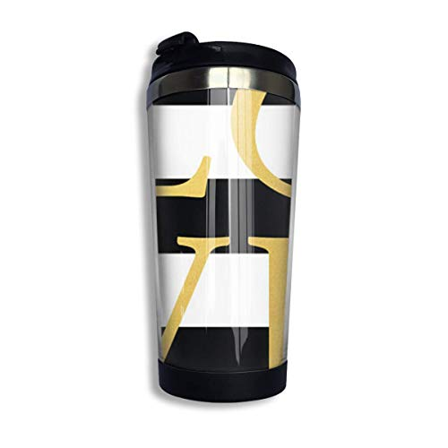 Qurbet Mug de Voyage, Tasse à Café Love Travel Coffee Thermal Mug 10 Oz Gobelet de Voyage Isotherme Perfect for Travel, Camping, Hiking, The Beach and Sports