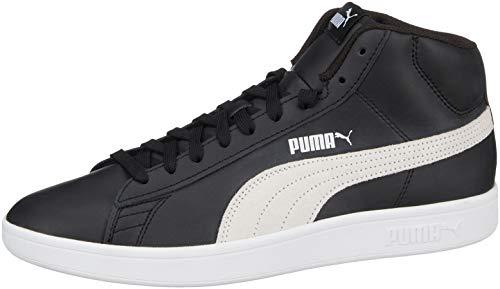 Puma Smash V2 Mid L', Sneaker a Collo Alto Unisex-Adulto, Nero Black White, 43 EU