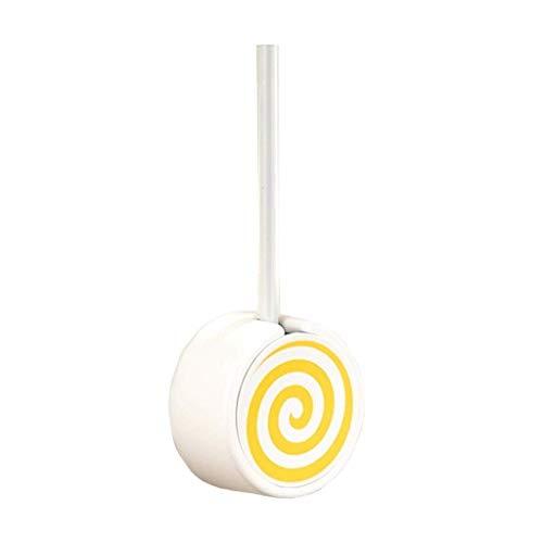 Escobilla para Inodoro Montado en la pared Toilet Bowl Pincel y Holder - Donut Cepillo de dientes con mango de acero inoxidable duradero, fácil de instalar Escobillero Baño ( Color : Yellow )