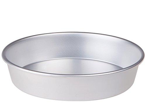 Pentole Agnelli FAMA43/640 Teglia/Tortiera Conica con Orlo, Altezza 6 cm, Alluminio, 40 cm, Argento