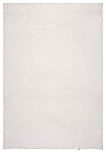 """Mia´s Teppiche \""""Olivia\"""" Wohnzimmer Teppich, Kurzflor, 80x150 cm, Creme"""
