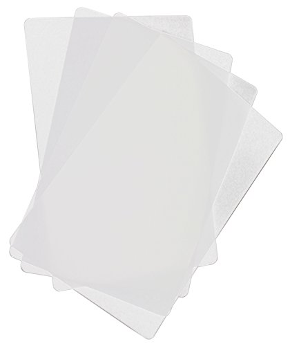 """Food Service Grade Heavy Gauge Flexible Cutting Board Mats Set of 4 Clear BPA Free 12"""" x 18"""" Made in the USA by Chop Chop"""