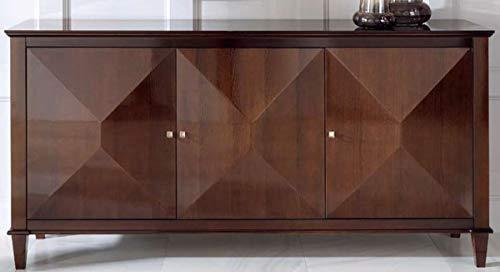 Casa Padrino aparador neoclásico de Lujo con 3 Puertas marrón 202 x 50 x A. 100 cm - Gabinete de Salón - Muebles Art Deco