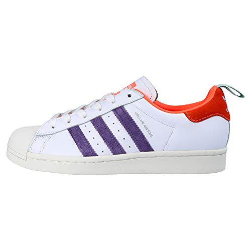 adidas Superstar White Icey Pink Signal Coral - 4 UK
