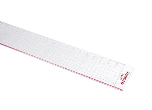 GEOtec Schneidelineal (Büro, Schule), Plexiglas®, 30 cm, transparent
