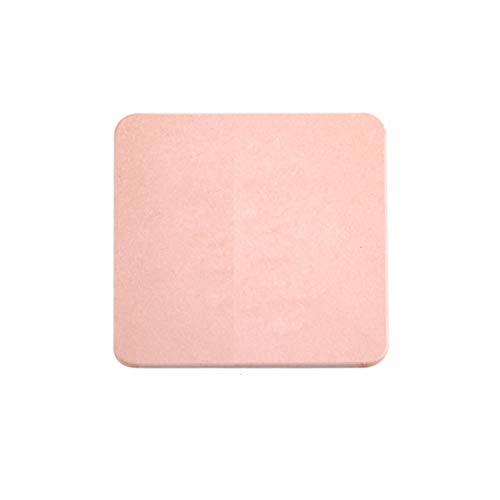 Chenguojian Nicht-Asbest-Diatom-Schlamm-Fußmatte, Indoor-Türmatte, hohe Hygroskopizität, Badezimmer-WC-Wasserabsorption, schnell trocknend, rutschfest (Color : Pink, Size : 30 * 30cm)