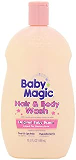 Baby Magic Hair and Body Wash, Original Baby Scent, 16.5 Ounces (Pack of 2)
