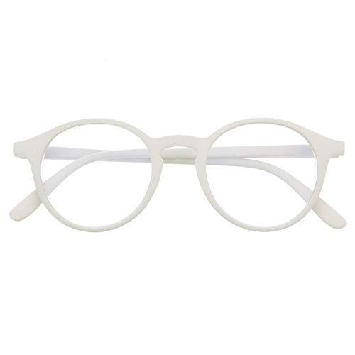 Blaulichtfilter Brille für Damen und Herren. Blaufilter Brille mit stärke oder ohne sehstärke für Gaming oder Pc. Gummi-Touch-Tempel und Blendschutzgläser. Ash +2.0 – UFFIZI