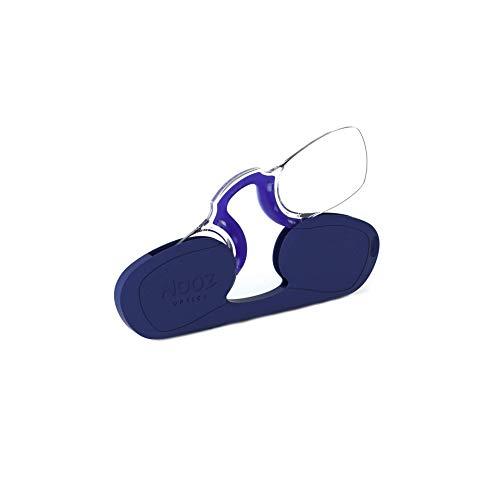 Nooz - Bügellose Lesebrille Unisex - Blau +2 Rechteckig - Immer griffbereit
