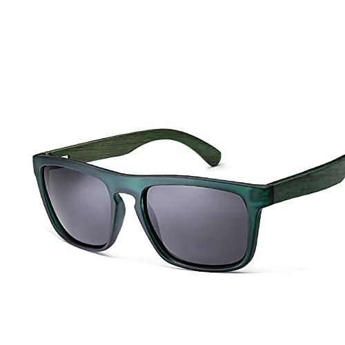 Q4S Gafas De Sol De Bambú Natural para Hombre Gafas De Sol De Madera Gafas De Sol Polarizadas Lentes Rectangulares Conducción Uv400,ES