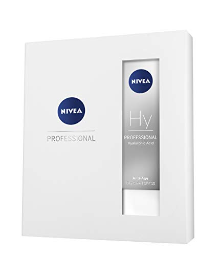 NIVEA PROFESSIONAL Ácido hialurónico, set de regalo, kit de cremas antiedad con crema de día con FP15, crema de noche y sérum antiarrugas facial, pack de 3 unidades (3 x 50 ml)