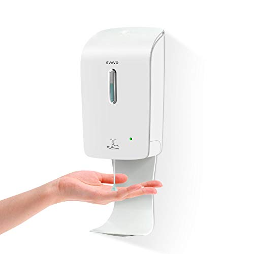 SVAVO Soap Dispenser Wall Mount 33.8oz/1000ml, Automatic Soap Dispenser Touchless with Anti-Spill Tray Wall Mounted, Auto Sensor Liquid Soap Pump for Hand Sanitizer, Household, Commercial Places