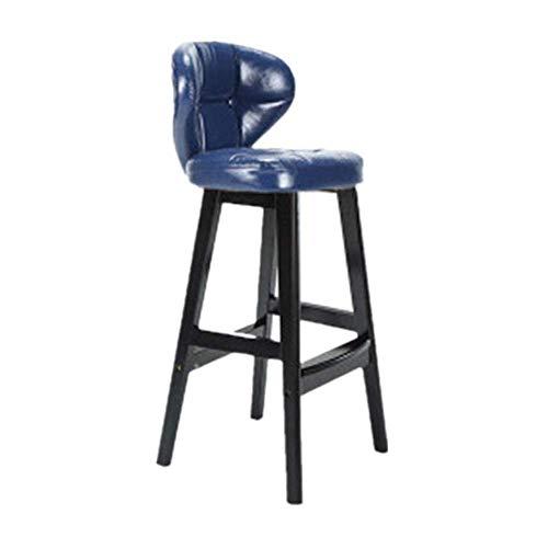 YINGGEXU Silla de comedor retro de madera maciza, taburete alto para restaurante, respaldo de bar, cajero, bar, bar, muebles para el hogar, silla alta compatible con cocina barbería (Col