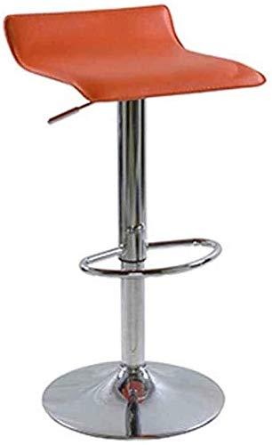 QFLY Alto Taburete La Manera Creativa Bar Bar Silla de Cuero Sillas de Comedor de Desayuno taburetes Silla Minimalista Silla de la Barra de elevación giratoria Taburete Alto Cocina Taburetes