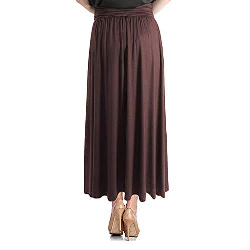 Vectry Falda De Tul Fiesta De Tutú para Mujer Plisadas Faldas Moda para Mujer Cintura Alta Soild Vintage Suelto Playa Bolsillo Wrap Maxi Falda Larga Longitud Midi Falda Mujer Cortas Falda