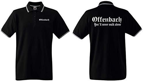 World of Shirt Herren Polo-Retro Shirt Offenbach Ultras