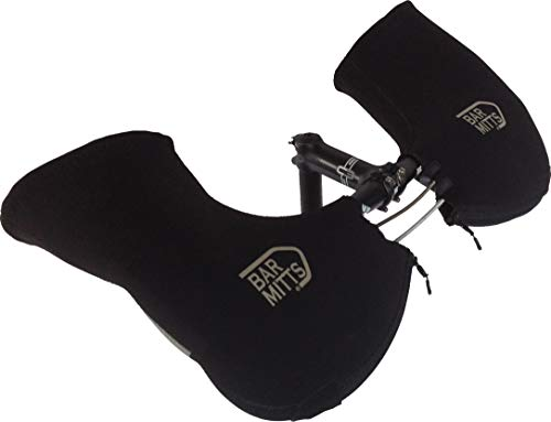 Bar Mitts Extreme Cold Weather Mountain/Commuter Bike Neoprene Handlebar Mittens/Pogies, No Bar End Openings