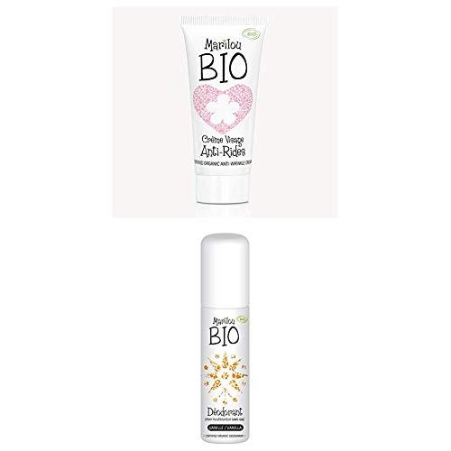 Duo de produit de beauté MARILOU BIO - Gamme Classic - Crème anti rides - Déodorant Vanille