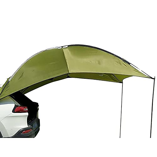 LPL Multifunción Sun Twning Impermeable Resistente al desgarro Resistente al Coche Sunshade Auto Camping SUV MPV Remolque Sedán Anti-UV Tienda Toldo (Color : Green)