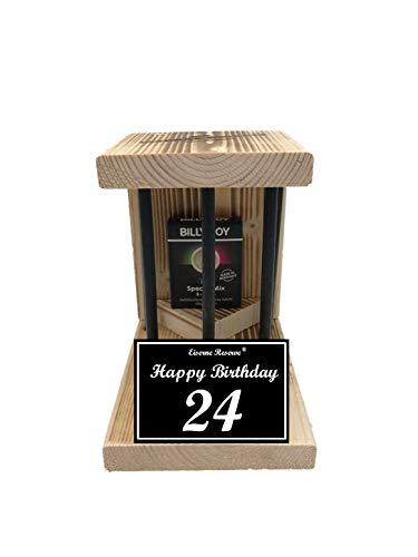 * 24 Happy Birthday Black Billy Boy - Die Eiserne Reserve ® mit Kondome - lustige Geschenk - Geschenkidee - Scherzartikel - Geschenk für Männer und Frauen